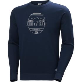 Helly Hansen F2F Suéter Algodón Hombre, azul